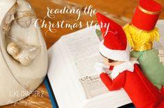 {The Christmas Story} Elf on the Shelf Ideas: Day 11 as seen on AmysPartyIdeas.com