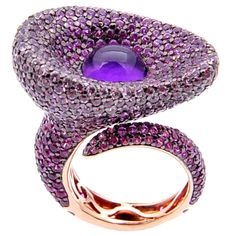 Rosamaria G Frangini | High Purple Jewellery | TJS | In 18ct white gold with amethyst