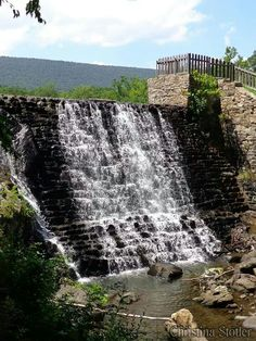 Waterfall in Cacapon State Park, Morgan County, West Virginia....