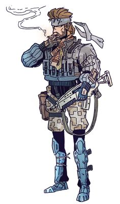 I like Snake's design in Metal Gear Ac!d 2 a lot Snake Metal Gear, Metal Gear Games, Steampunk Armor, Metal Gear Solid Series, Character Art, Character Design, Arte Nerd, Anime Couples Manga, Anime Girls