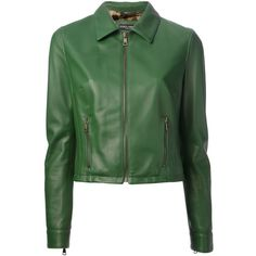 DOLCE & GABBANA cropped jacket ($2,470) ❤ liked on Polyvore featuring outerwear, jackets, coats, coats & jackets, dolce & gabbana, green, long sleeve crop jacket, long sleeve jacket, green jacket and straight jacket