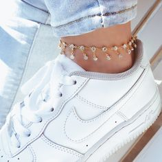 Find your perfect anklet here! All anklets are handmade, you may like our famous Princess Diaries Anklet! Ankle Jewelry, Ankle Bracelets, Cute Jewelry, Body Jewelry, Jewelry Accessories, Women Jewelry, Fashion Jewelry, Jewlery, Silver Bracelets