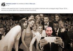 2014: selfie Oscar 2014 e Fabrizio Lonzini