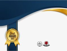 Golden badge certificate PNG and Vector