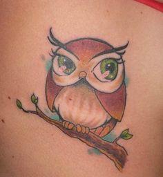 Feminine+Owl+Tattoos | Feminine Owl Tattoo Design Picture