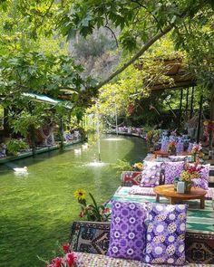 Saklıkent Restaurant Paradise Park Fethiye ~ Turkey Congrats Use Restaurant Paradise, Cozy Restaurant, Restaurant Design, Peaceful Places, Beautiful Places To Travel, Beautiful World, Wonderful Places, Beautiful Sunset, Beautiful Moments