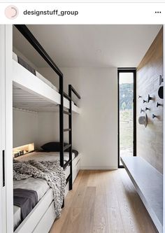 Studio Griffiths' two sleek entries into a major industry awards program, The Australian Interior Design Awards, have been shortlisted. Bunk Bed Rooms, Casa Loft, Built In Bunks, Interior Architecture, Interior Design, Ikea Interior, Interior Decorating, Bunk Bed Designs, Small Spaces
