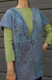 """weavette"" squares on a potholder loom. Directions  32 squares/vest!  Handweavers Guild of America, Inc."