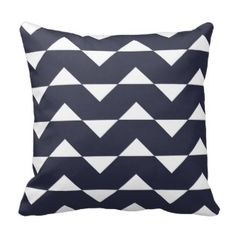 Navy Blue Sparre Pattern Accent Pillow 25% off sale www.prettythrowpillows.com Chevron Throw Pillows, Accent Pillows, Blue Chevron, Navy Blue, Decorative Pillow Cases, Accent Decor, Cushions, Pretty, Pattern