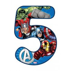 Buy the Avengers Number 5 Edible Icing Image. Avenger Cupcakes, Avenger Cake, Avengers Birthday, Superhero Birthday Party, Barbie Birthday Cake, Iron Man Birthday, Avengers Characters, Little Blessings, Superhero Cake