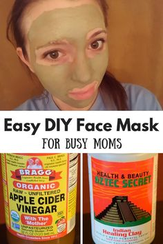 Easy DIY face mask for busy moms. My favorite thing about this mask is that the clay is chemical free, fragrance free, and all natural!