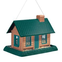 Log Cabin Bird Feeder Large, this one looks like my house! :)