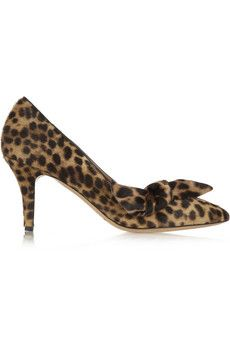 Isabel Marant Pealman leopard-print calf hair pumps | NET-A-PORTER
