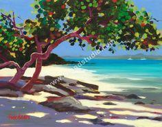 367 Honeymoon Beach Tropical Painting By Shari Erickson Caribbean Homes, Caribbean Art, Scrapbooking Image, Collages, Saint Martin, Galerie D'art, Beach Art, Artist Painting, Love Art