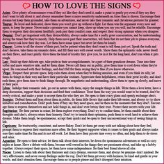 How to show love to each zodiac sign