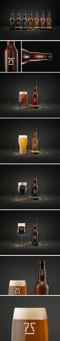 7 Fjell Brewery, Branding/CI on Behance By KIND | Conceptual Branding, Tom Emil Olsen and Christoffer Meyer https://www.behance.net/gallery/20505167/7-Fjell-Brewery-BrandingCI