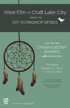 West Elm and Craft Lake City Present the DIY Workshop Series with Malinda Fisher -January 2013