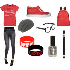 """""""Red Teen Outfit"""" by sinfulsaints on Polypore.love everything except the red bracelet Tween Fashion, Fashion 101, Fashion Tips For Women, Cute Fashion, Passion For Fashion, Trendy Fashion, Plus Size Fashion, Girl Fashion, Fashion Outfits"""