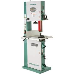 Grizzly Industrial 17 Metal/Wood Bandsaw w/Inverter Motor Cast Iron Fence, Iron Tools, Springfield Missouri, Shops, Home Workshop, Table Sizes, Low Tables, Extruded Aluminum, Wood Cutting