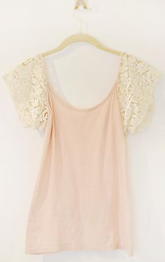 DIY: lace sleeve tank top