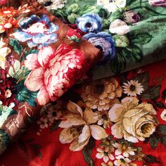 Vintage fabric at Phillips & Cheers