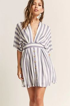 Product Name:Plunging Stripe Dress, Category:dress, Price:38