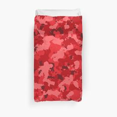 'Red Camouflage design' Duvet Cover by MidnightBrain Duvet Bedding, Bed Covers, Camouflage, My Arts, Art Prints, Printed, Awesome, People, Red