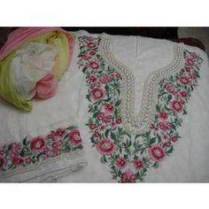 Manufacturer of Handwork Designer Suits - Handwork Embroidery Suits, Handwork Embroidery Designs Suits, Handwork Embroidery suits and Hand Work Salwar Kameez offered by Chetna Fashion Inc. Embroidery Designs, Hand Work Embroidery, Embroidery Suits Design, Flower Embroidery, Suits For Women, Ladies Suits, Pink Kurti, Wedding Suits, Indian