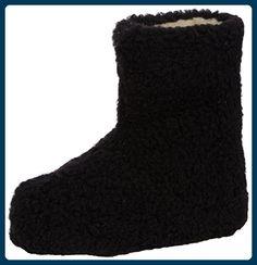 Woolsies Yeti Natural Wool Slipper Booties, Unisex-Erwachsene Hohe Hausschuhe, Schwarz (Black), 37 EU (4 UK ) - Hausschuhe für frauen (*Partner-Link)