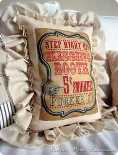 Kissing Booth Pillow