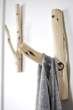 Coat hooks made from twigs. (hakenhout.jpg | Flickr - Photo Sharing!)