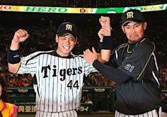 Ryutaro Umeno and Minoru Iwata (Hanshin Tigers)