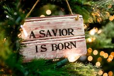 Rustic Christmas Sign - Christmas Sign - A Savior is Born Jesus is the reason for the season! Would be easy to make with offcuts of wood Merry Christmas To All, Primitive Christmas, Christmas Signs, Rustic Christmas, Christmas Projects, All Things Christmas, Winter Christmas, Holiday Crafts, Holiday Fun