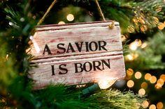 Rustic Christmas Sign - Christmas Sign - A Savior is Born