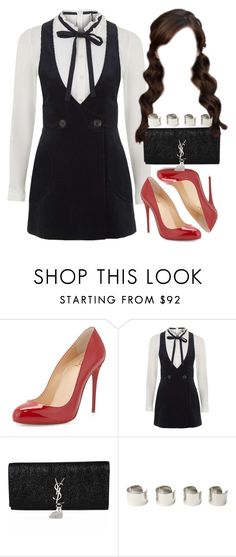 """""""Untitled #353"""" by foreverdreamt ❤ liked on Polyvore featuring Christian Louboutin, Topshop, Yves Saint Laurent and Maison Margiela"""