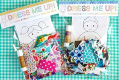 Dress me Up   -- a Fun Paper & Fabric Doll Craft Kit for Children -- Boy Theme. $11,95, via Etsy.