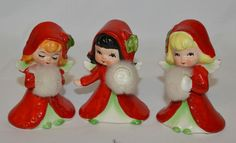 Lefton Christmas Girls with muffs
