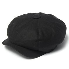 Men Women Black Gatsby Cap Newsboy Hat Beret Duckbill Golf Driving Flat  Cabbie Hat Gatsby ec5f853dd933