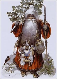 The Pictorial Arts: Visions of Santa Christmas Scenes, Father Christmas, Santa Christmas, Christmas Pictures, Christmas Greetings, Christmas Time, Christmas Crafts, Christmas Ideas, Christmas Ornaments