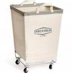 Seville Classics Commercial Canvas Laundry Hamper Cart Natural