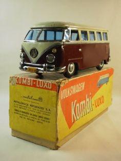 Tin Volkswagen toy car, from the Kombi-Luxo range, with original box, Argentina, 1960, by Matarazzo.