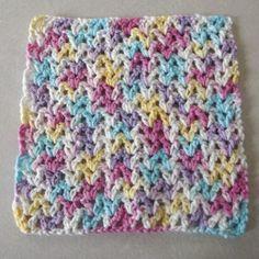 Easy V-Stich Crochet Dishcloth