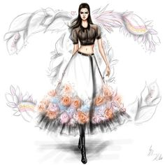 «@kendalljenner  walking through the garden of @chanelofficial ♥»