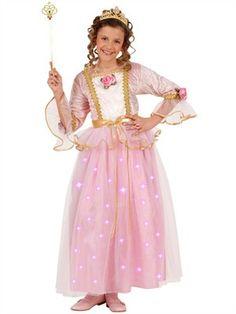 Prinsesse kjole i lyserød og guld - BlikfangsKostumer.dk