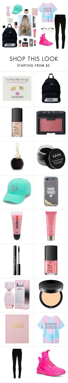 """Untitled #239"" by khyara on Polyvore featuring Dogeared, Moschino, NARS Cosmetics, Furla, NYX, Aggie Gray, Kate Spade, Morphe, Moroccanoil and Bare Escentuals"