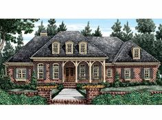 French Country House Plan with 3590 Square Feet and 4 Bedrooms from Dream Home Source | House Plan Code DHSW53506