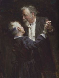 """The Waltz"", by American artist - Morgan Weistling (1964 - ), Oil on canvas, 16"" x 12"""