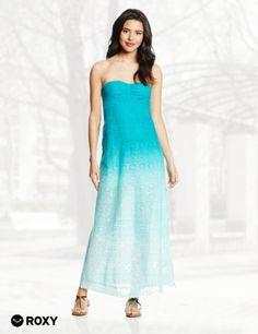 Roxy Juniors Rolling Wave Knit Crochet Maxi Dress 1