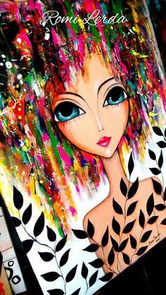 Romi Lerda Art Mural Painting, Oil Painting On Canvas, Painting & Drawing, Canvas Art, Paintings, Painting Abstract, Creation Art, Orange Art, Arte Pop