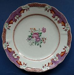 18th Century Chinese Porcelain Famille Rose Plate